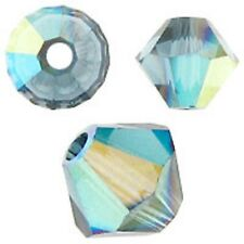 Swarovski Crystal Bicone. Montana AB Color. 4mm. Approx. 144 PCS. 5328