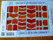 Microscale Decal HO  #87-451 Anti-Glare Panels-Diesel - Nose - Red & Orange