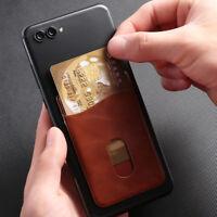 Leather Card Holder Sticker Adhesives Mobile Phone Back Pocket Stickers Bag