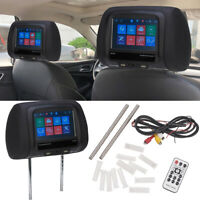 "7""  Touchscreen Car Headrest Monitor Back Seat MP5 Monitors with USB SD IR FM BT"
