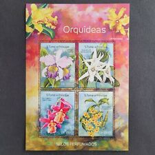 SoaTome&Principe 2014 / Flora - Orchids / 4v minisheet mnh