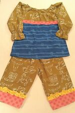 Western Boutique Young Colors 2pc Outfit Tunic Top Pants Baby Toddl Girl 18Mos