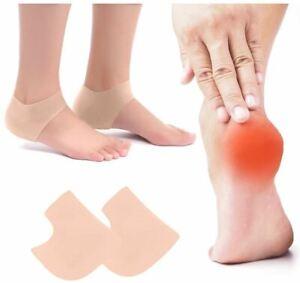 SILICONE GEL HEEL SLEEVES Cracked Foot Skin Care Protector socks