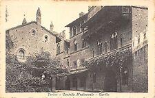 4132) TORINO CASTELLO MEDIOEVALE CORTILE.