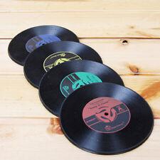 Kit 4 sotto bicchieri bicchiere tazza VINILE dischi DISCO pub bar sottobicchiere