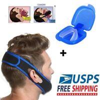 Stop Snoring MouthPiece Sleep Apnea Night Guard TMJ + Anti Snore Chin Strap Belt