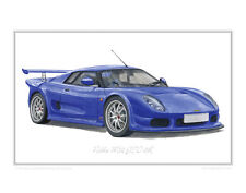 Noble M12 GTO - Limited Edition Classic Car Print Poster by Steve Dunn