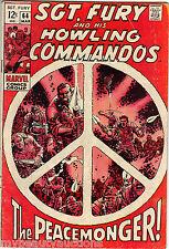 Marvel Comics SGT. Fury & His Howling Commandos Vol. 1 # 64. March, 1969. VG+