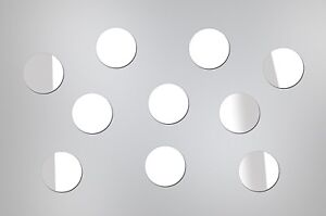 WALL MIRROR DECALS for House Home Decor - SET 50 pcs CIRCLES stickers