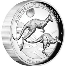 2018 Australian Kangaroo 1oz Silver Proof High Relief Coin