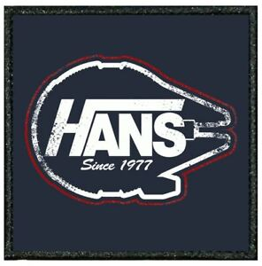037B FUNNY EMBROIDERED EDGE PATCH FROM OUR TIV RANGE - STAR WARS HAN SOLO