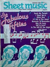 SHEET MUSIC MAGAZINE - FABULOUS FIFTIES COVER STORY - MARCH, 1988