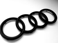 TT Matte Black Front Grille Badge Rings Emblem Fit Audi Sline 260mm