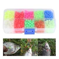 1000pcs / Box Plastic Round Glow Fishing Beads Tackle Lures Fishing Accessories