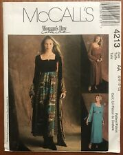 McCall's 4213 Woman's Day Collection Miss/Miss Petite MAXI DRESSES Sz 6-12 Uncut