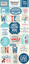 Echo Park - Celebrate Winter Chipboard Phrases Stickers Die Cut 17 Pieces