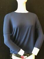 BNWT HOBBS Women's Amelia Mazarine Blue T Shirt Size XS