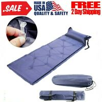 Self Inflating Mat Outdoor Sleeping Pad Hiking Pillow Air Mattress Camping Purp