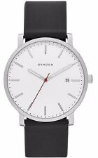 NIB Skagen SKW6340 Hagen Mens  Black Silicone Strap Watch