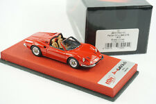 1/43 BBR FERRARI DINO 246 GTS ROSSO CORSA RED LEATHER BASE LE 20 PCS MR