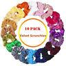 Velvet Scrunchies Elastic Hair Bands Scrunchy Hair ties 10 Pack Women Girls New