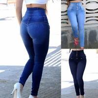 Women High  Skinny Denim Stretch Cotton Pants Length Fitnesse Jeans Pants