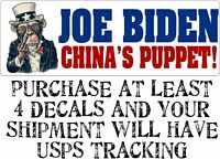 "Joe Biden ""China's Puppet"" Anti Joe Biden BUMPER STICKER rigged election biden"