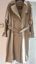 Vintage Womens Authentic Burberry Gabardine MAC NOVA Trench Coat Olive UK14 REG
