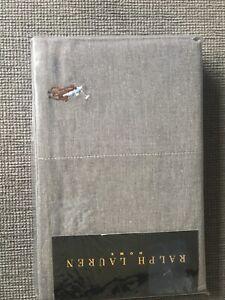 Ralph Lauren Chambray Grey Pillow Cases (set Of 2)