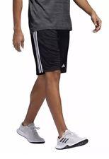 NWT Adidas Men's 3-Stripe Climalite Shorts Black With White Stripes Size XL