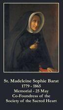 St Madeleine Sophie Barat Prayer CARD (wallet size)