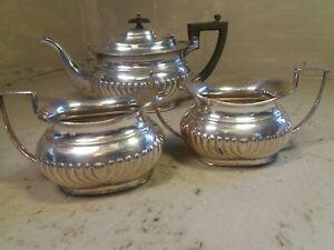 3 pc Silver Plate Teapot Set , Joseph Rodgers