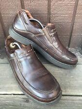 Aldo Samurai Mens Sz 44 EUR/11-11.5 US Brown Leather MocToe SlipOn Loafers-457