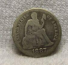 u.s.coins1887 seated dime