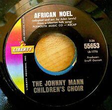 AFRICAN NOEL/CHILDREN BOARD THAT TRAIN 45 Johnny Mann Children's Choir LIBERTY