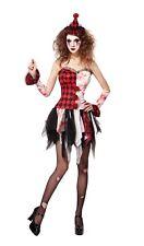 ADULTE femmes effrayant BOUFFON Costume déguisementlacet Halloween