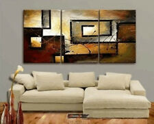 Modern Contemporary 3-Piece Oil On Canvas Large Painting Abstract Wall Art Gift