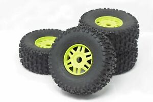 Arrma MOJAVE 6s BLX - TIRES & Wheels (Lime Green rims DBoots fortress AR550068