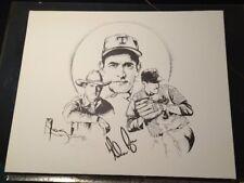 Rare Nolan Ryan Texas Rangers 1992 Lithograph 16x20