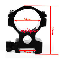 Aluminum 1X See throug 30mm Ring 20mm Picatinny Rail Scope Mount for Hunting