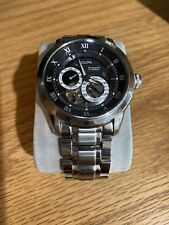 Bulova Men's Mechanical Automatic Watch with Silver Band
