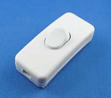 10 Stück Schnur-Zwischenschalter, 1 polig, 2 A, 250 V~ Weiß