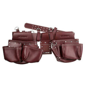 BOSSA 27276 17-Pocket 4-Piece Grain Leather Framers Combo Apron