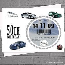 Mens 40th 50th 60th Car Tax Birthday Party Invitations x50 ANYCAR U CHOOSE H0177