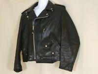 1985-95 VINTAGE SCHOTT PERFECTO 125 MOTORCYCLE BIKER LEATHER JACKET SIZE 44