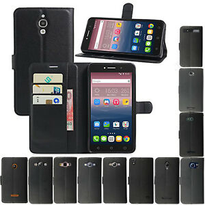 "Wallet Case Cover Alcatel Pixi 4. 4"" 3g 5"" 3g 4g 6"" 3g Pop4 Leather Book Flip"