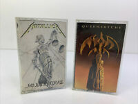 Lot of 2 Vintage Heavy Metal Audio Cassette Tapes - Metallica And Queensryche
