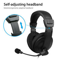 Gaming Headset 3.5mm Wired Over Ear Headphones Stereo w/ Mic For Xbox One/PS4 PC