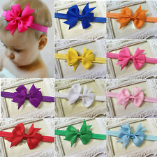 10PCS Bow Flower Headband Kids Girl Baby Toddler Headwear Hair Band Accessories