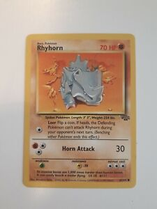 Pokemon Card Rare RHYHORN Jungle Base Pack 1990s Collection New Gift Unused